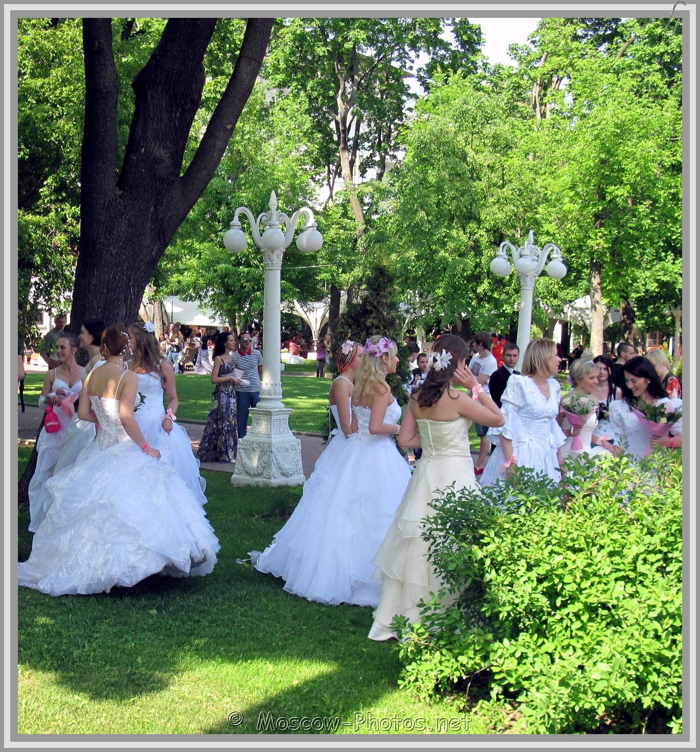 Russian Brides and Moscow Summer Day