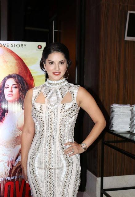 Sunny Leone Stills At Beiimaan Love Trailer Launch