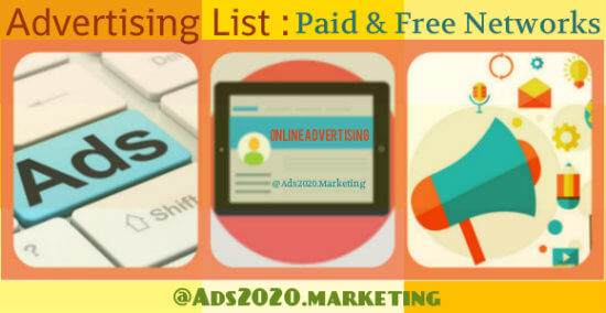 Advertising-List-Paid-Free-Ad-Networks-Channels-websites