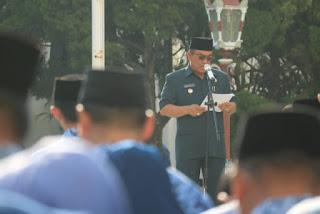 Walikota Cirebon Pimpin Upacara Hari Otonomi Daerah 2019