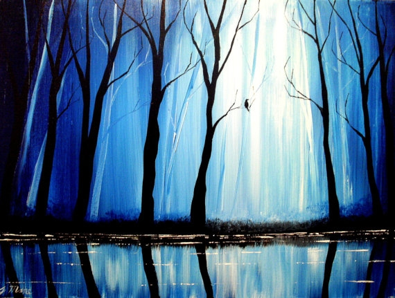 05-The-Trees-Along-the-Stream-Blue-Paintings-by-Justin-Mane-www-designstack-co