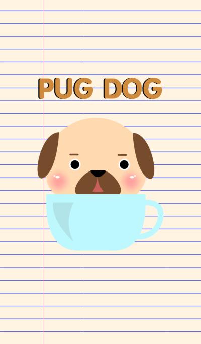 Simple Cute Pug Dog Theme