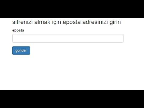 php mail gondererek sifre alma