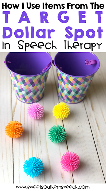 Ideas For Using Target Dollar Spot Items In Speech Therapy