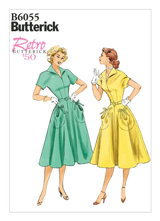 The Antique Sewist: Butterick B6055 - Halloween Inspired Day Dress