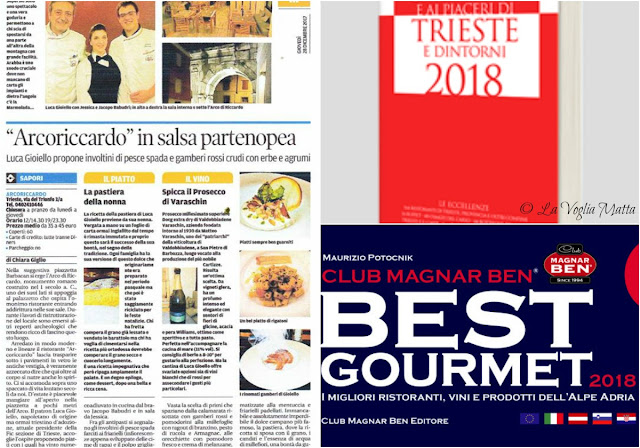 """collaborazioni con """"Il Piccolo"""" """"Le Guide di Repubblica"""" e """"Best Gourmet"""""""