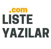Liste Yazılar