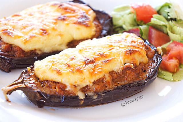 Melitzanes Papoutsakia-Stuffed Eggplant