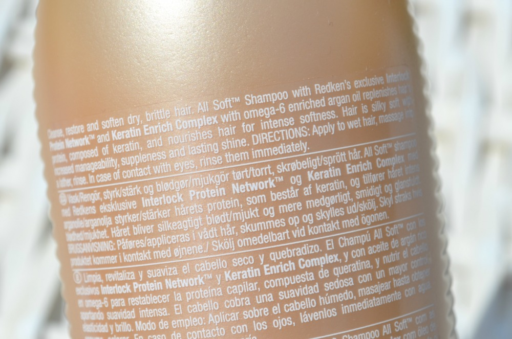 Redken All Soft Shampoo Review - designed to give dry and brittle hair a renewed texture and strength