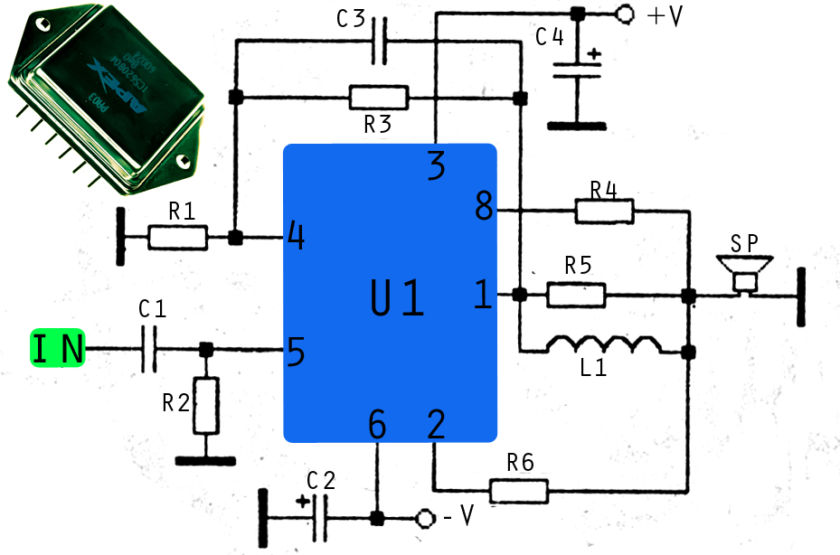 1000W ICs audio amplifier with PA03 Power Amplifier