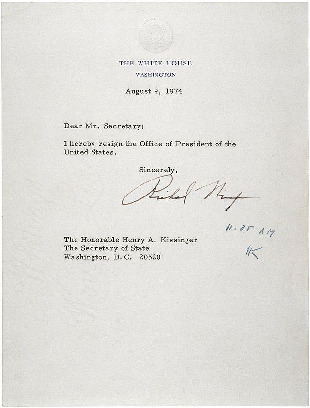 simpele ontslagbrief 17 juni 1972   Begin Watergate schandaal   Voetnootjes simpele ontslagbrief