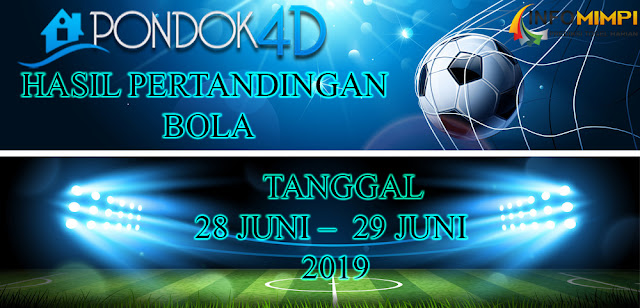 HASIL PERTANDINGAN BOLA TANGGAL 28 JUNI –  29 JUNI 2019