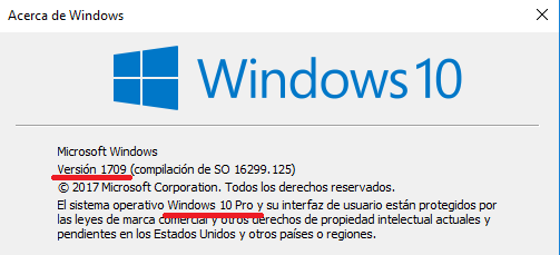 Windows: Saber versión instalada