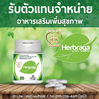 หางานทําที่บ้าน สร้างรายได้เสริม รับตัวแทนจำหน่าย อาหารเสริม Herbraga