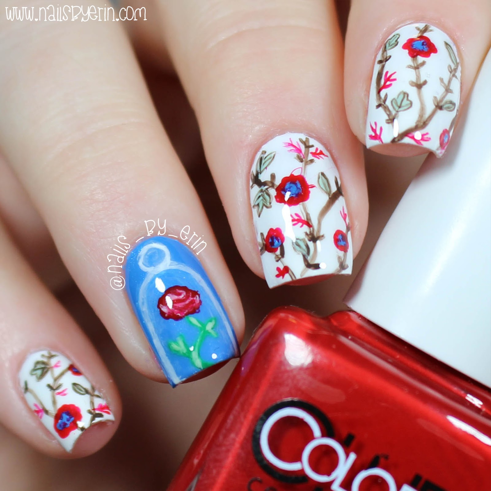The Nail Art And Beauty Diaries: NailsByErin: Beauty And The Beast (2017) Nails