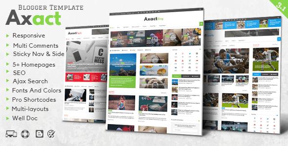 تحميل قالب بلوجر alm Axact v3.1 المدفوع مجانا Magazine Blogger Theme