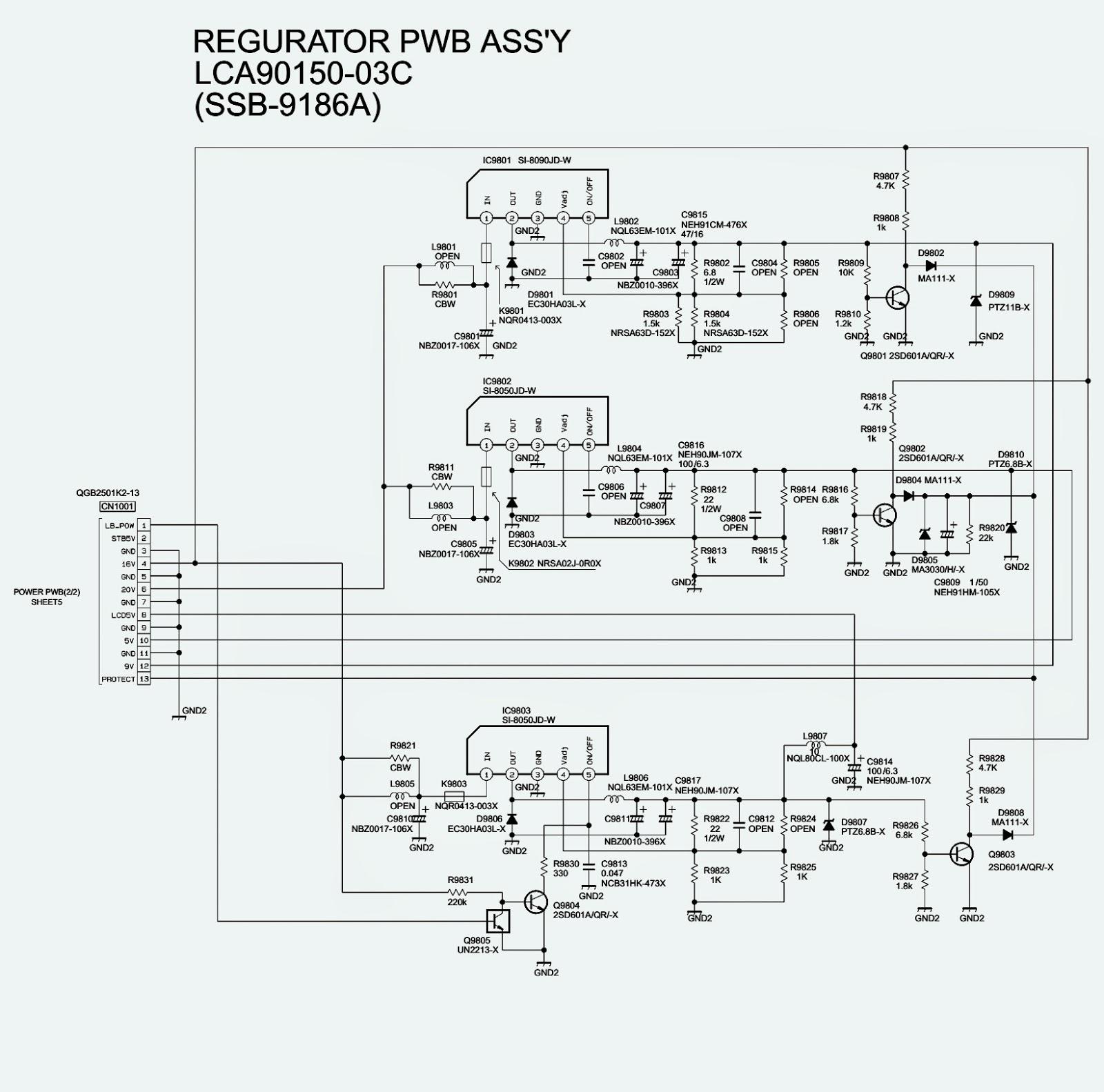 circuit diagram jvc tv jvc lt26wx84/t – lcd flat tv – power supply regulator ... crt tv circuit diagram