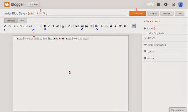 Langkah 3 Cara Membuat Posting Blog