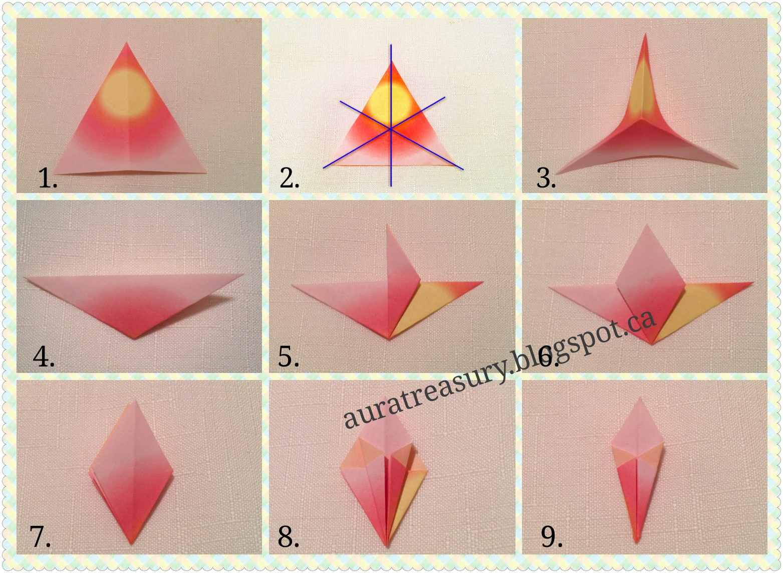 How To Make Valentines Origami Lily Step