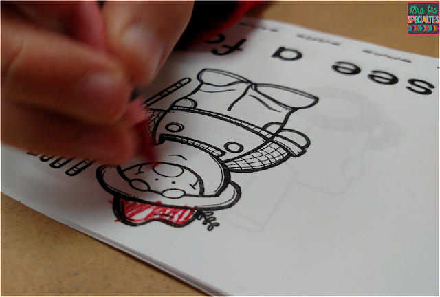 photo of student coloring per the direction