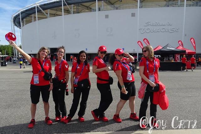 Photo de groupe devant le Stadium de Toulouse, EURO 2016