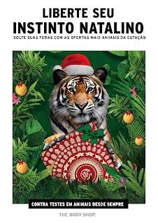 Campanha de Natal da The Body Shop traz floresta e animais selvagens como tema