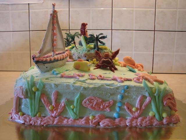 φτιάξε μια εντυπωσιακή τούρτα γενεθλίων με θέμα ο βυθός της θάλασσας
