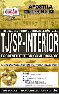 apostila escrevente concurso TJSP 2018