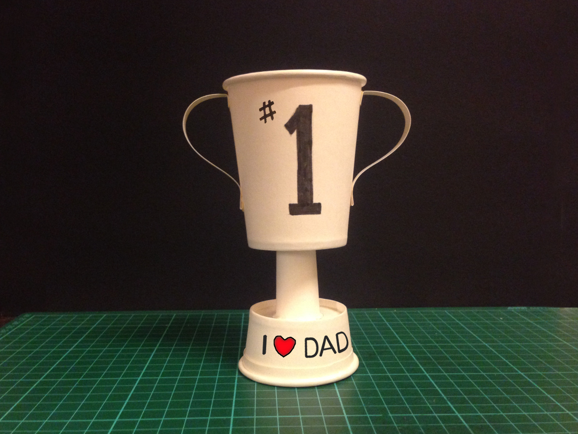 Yoshiny 39 s design paper cup trophy kid 39 s diy father 39 s How to design a trophy