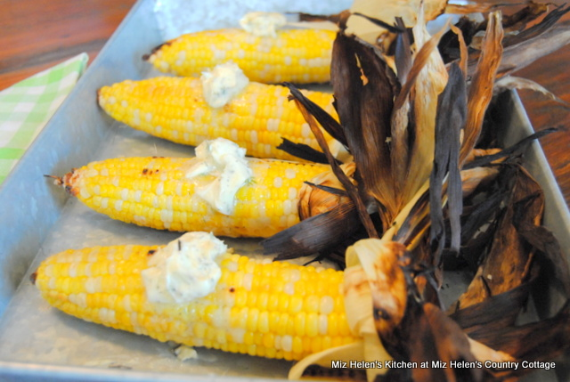 Grilled Corn with Dill Butter at Miz Helen's Country Cottage