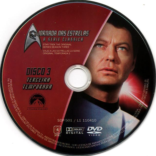 Label DVD Jornada nas Estrelas A Série Clássica Terceira Temporada Disco 3 (Oficial)