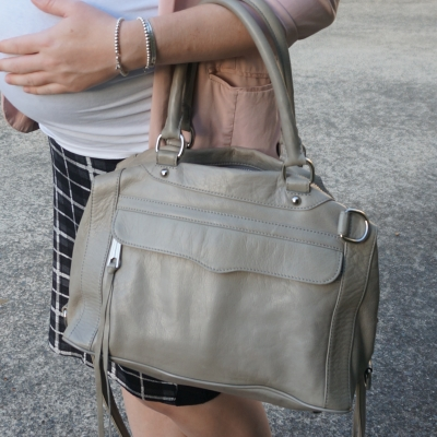 AwayFromTheBlue | Rebecca Minkoff MAB mini in soft grey slouchy