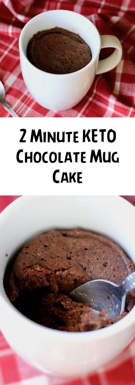 2 Minute KETO Chocolate Mug Cake