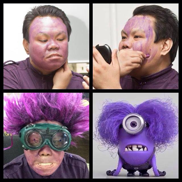 A guy transform after makeup