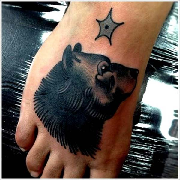 foot bear tattoo