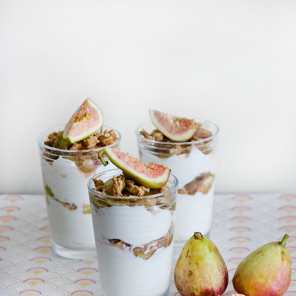 Maple Poached Figs and Granola Parfait
