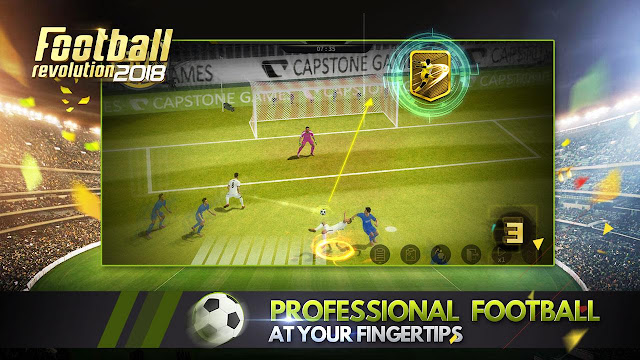 Tampilan Game Soccer Revolution 2018