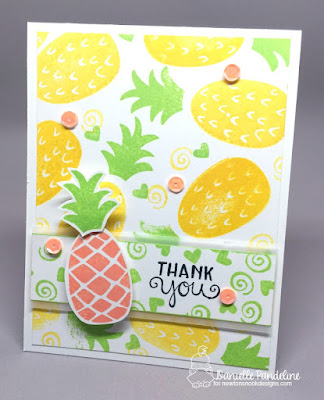 Pineapple Delight | Newtons Nook Designs | Card Created by Danielle Pandeline