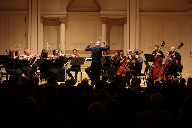 David Curtis and the Orchestra of the Swan performing in New York