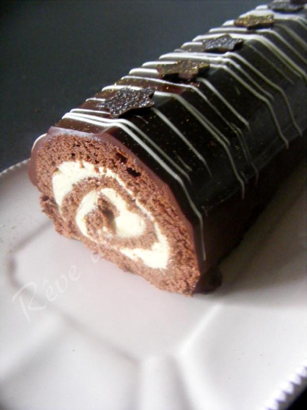 Buche chocolat creme au beurre