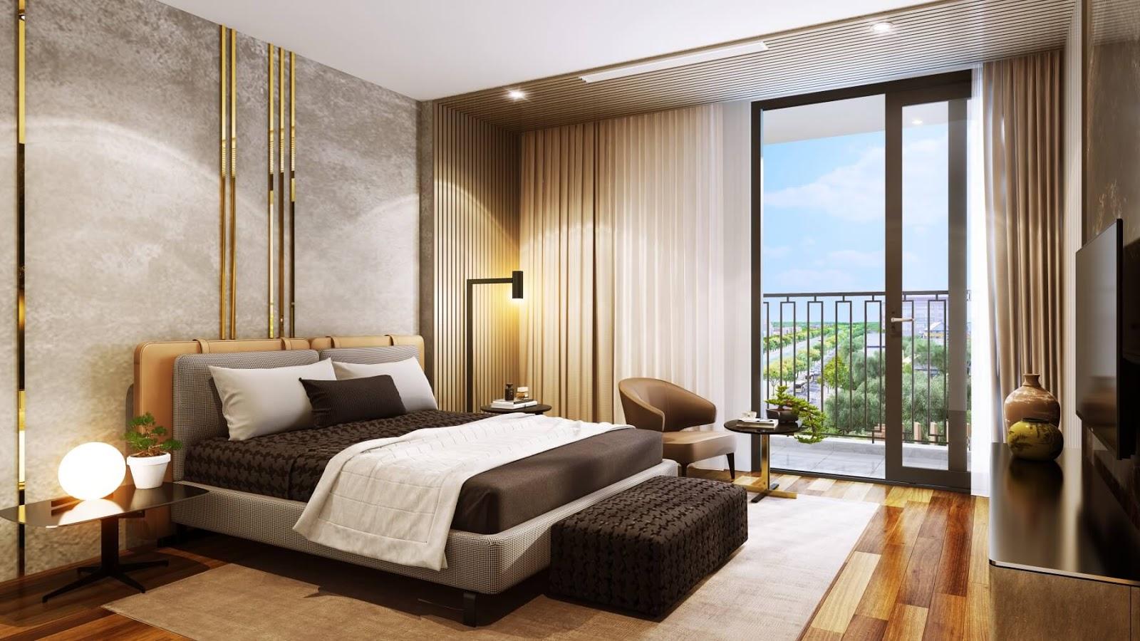 Phòng ngủ dự án chung cư Hinode City