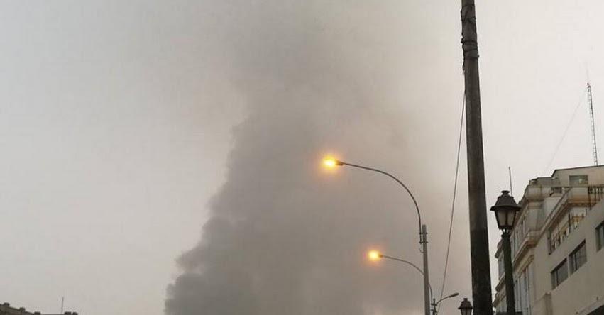 INCENDIO EN LAS MALVINAS: Cuatro siguen desaparecidos y continúa fuerte humareda - Centro de Lima