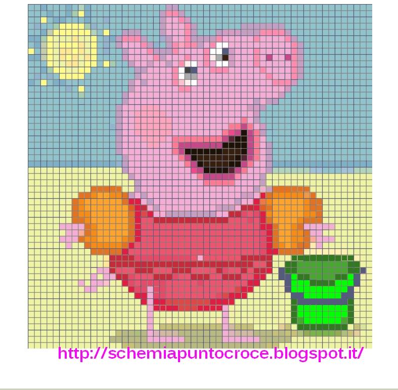Punto Croce Disney Baby Peppa Pig Schemiapuntocroce It