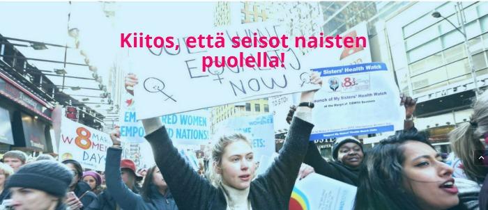 UNWomen - kiitos, että seisot naisten puolella