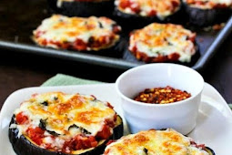 Keto Low Carb - Julia Child's Eggplant Pizzas