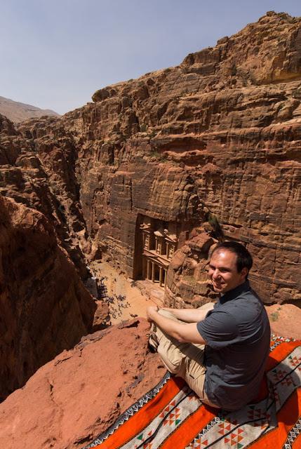 Otro mirador superior del Tesoro de Petra, Jordania
