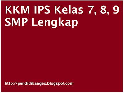 KKM IPS Kelas 7, 8, 9 SMP Lengkap, Contoh Format KKM, Download Kriteria Ketuntasan Minimal
