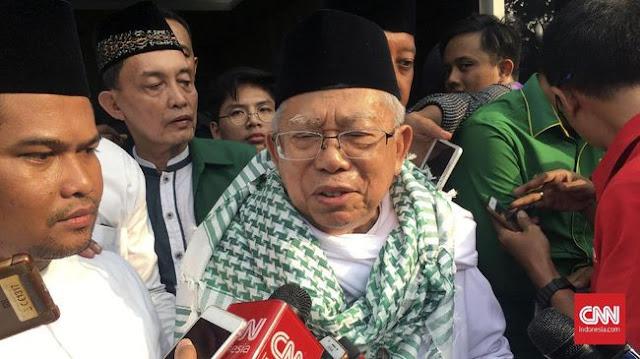 Ketika Ditanya Ihwal Rizieq Shihab, Pengawal Ma'ruf Amin Dorong Wartawan