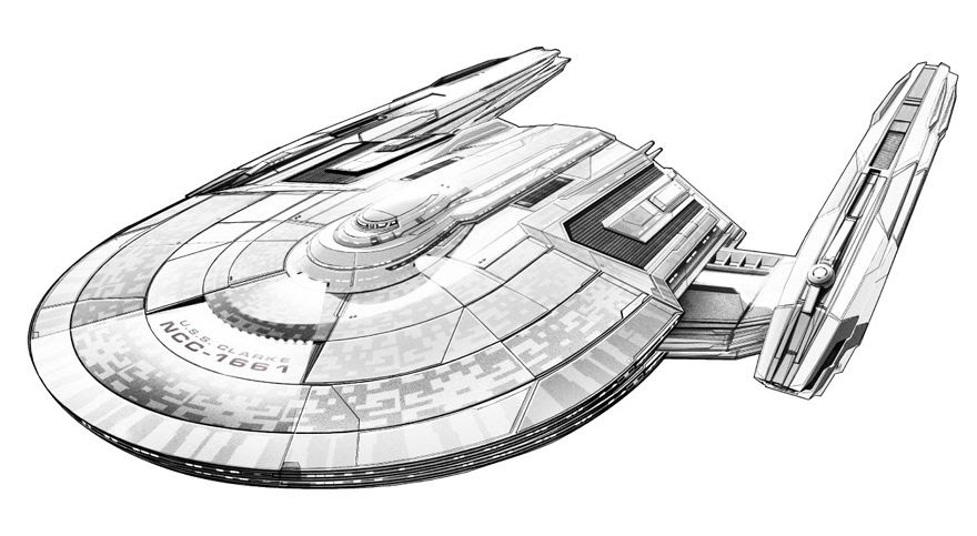 The Trek Collective: New Discovery starship concept art