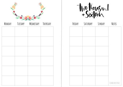 Free Printable here (monthly)